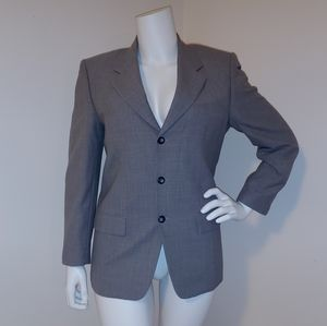 YSL vintage mens grey wool suit jacket